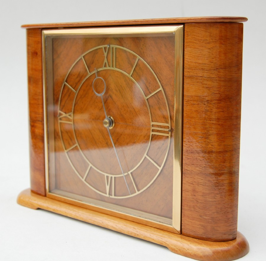 Sold. Sorry. Smiths mahogany and brass 1930s mantle clock with 8 day movement.