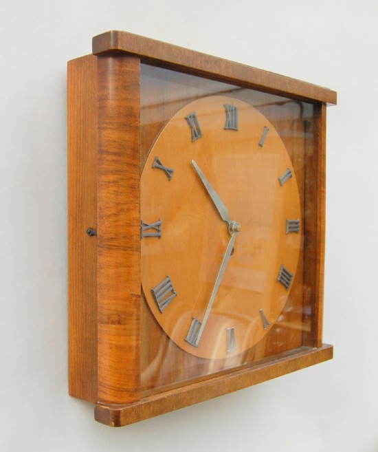 French 1930s wall clock with original movement.